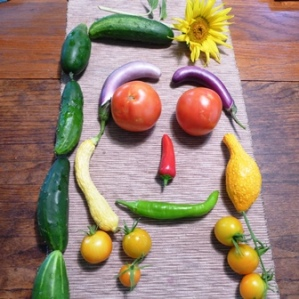 Face made of vegetables